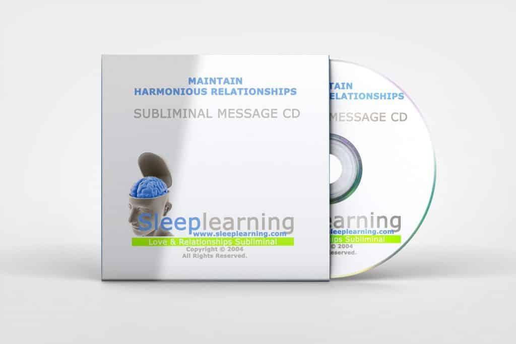 Maintain Harmonious Relationships